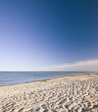 The famous white beach of Jutland Stock Photography