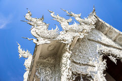 Famous white church in Wat Rong Khun Royalty Free Stock Images