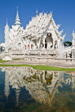 Famous white church of Wat Rong Khun, Thailand Stock Photos