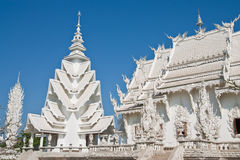 Famous white church of Wat Rong Khun, Thailand Royalty Free Stock Photo
