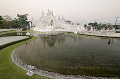 Famous white church in Wat Rong Khun, Thailand Royalty Free Stock Photo