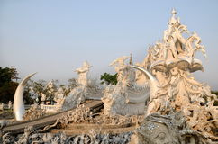 Famous white church in Wat Rong Khun, Thailand Stock Image