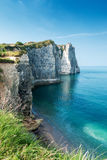 The famous white cliffs of Etretat Royalty Free Stock Photography