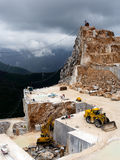 The famous white marble quarries in the Apennine Royalty Free Stock Photography