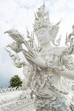 Famous white temple Wat Rong Khun Stock Images