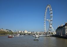 Famous white wheel in London in detail royalty free stock photography