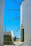 Famous windmill in Oia, Santorini Stock Photography