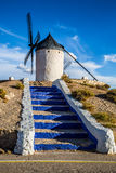 Famous windmills in Consuegra at sunset, province of Toledo, Cas Stock Photography
