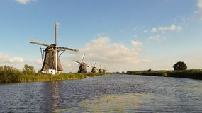 Famous windmills in Kinderdijk, Holland royalty free stock images