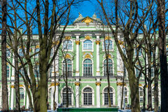 Famous Winter Palace in Saint Petersburg Stock Images
