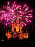The famous Wishes nighttime spectacular fireworks Royalty Free Stock Photo