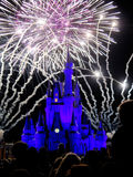 The famous Wishes nighttime spectacular fireworks Stock Image