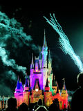 The famous Wishes nighttime spectacular fireworks Royalty Free Stock Image
