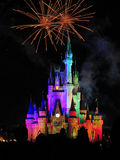 The famous Wishes nighttime spectacular fireworks Stock Photos