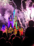 The famous Wishes nighttime spectacular fireworks Royalty Free Stock Images