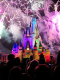 The famous Wishes nighttime spectacular fireworks Royalty Free Stock Photography