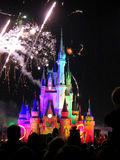 The famous Wishes nighttime spectacular fireworks Stock Photography