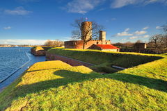 Famous Wisloujscie fortress in Gdansk, Poland outdoor Polish Danzig, Danzing Stock Image