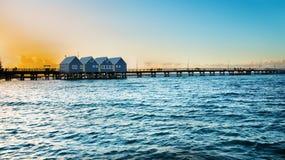 Famous wooden Busselton jetty in Western Australia Stock Image