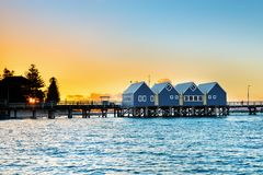 Famous wooden Busselton jetty in Western Australia Royalty Free Stock Photography
