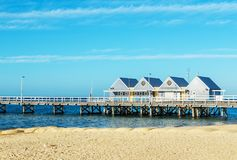 Famous wooden Busselton jetty in Western Australia Stock Photography