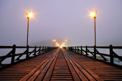 Famous wooden Mon bridge Stock Images