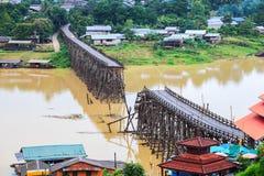 Famous wooden mon bridge Stock Image