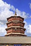 Famous wooden pagoda of Fogong Buddhist temple, Yingxian, China Stock Image