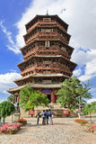 Famous wooden pagoda of Fogong Buddhist temple, Yingxian, China Stock Photos