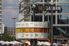 Famous World Clock located in Alexanderplatz in Berlin Stock Photo