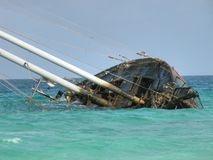 Famous Wrecked Ship, Capo Verde, May 2003 Stock Image