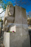 Famous writer Oscar Wilde tomb in Paris, France Stock Photography