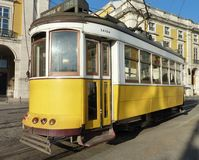 Famous yellow tram Royalty Free Stock Image
