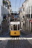 Famous yellow tram in Lissabon Stock Images