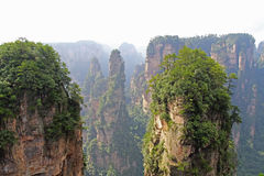 Famous Zhangjiajie National Forest Park in Hunan Province, China. China. Famous Zhangjiajie National Forest Park in Hunan Province Stock Photo