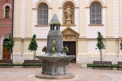 Famous Zsolnay fountain Pecs. Hungary Stock Images