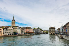 Famous Zurich churches Stock Images