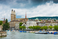 Famous Zurich churches Stock Photos