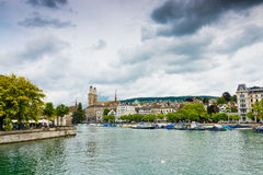 Famous Zurich churches Stock Image