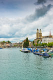 Famous Zurich churches Royalty Free Stock Images