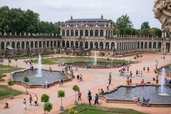 Famous Zwinger palace in Dresden stock photos