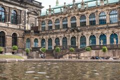 Famous Zwinger palace in Dresden stock photography