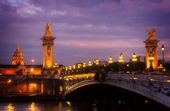 Bridge of Alexandre III, Paris, France Stock Images