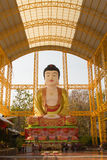Famouse Big Buddha in Chinese Temple at Phitsanulok, Thailand Royalty Free Stock Photos
