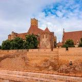 Famouse castel σε Malbork στοκ εικόνα