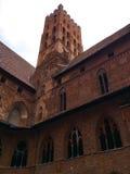 Famouse castel i Malbork Arkivbild