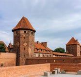 Famouse castel i Malbork Royaltyfri Fotografi