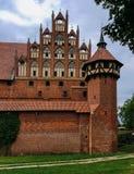 Famouse castel i Malbork Arkivfoton
