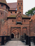 Famouse castel in Malbork Stock Afbeelding