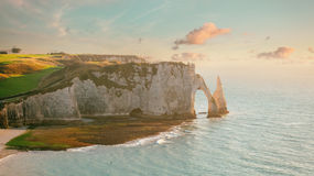 Famouse Etretat Arch Rock, France Royalty Free Stock Image